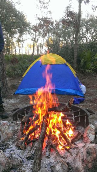 Green Swamp campfire